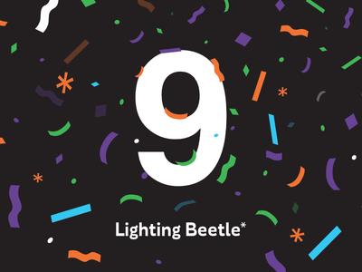 9yrs of Lighting Beetle* happy 9th nine birthday design ui ux lightingbeetle studio