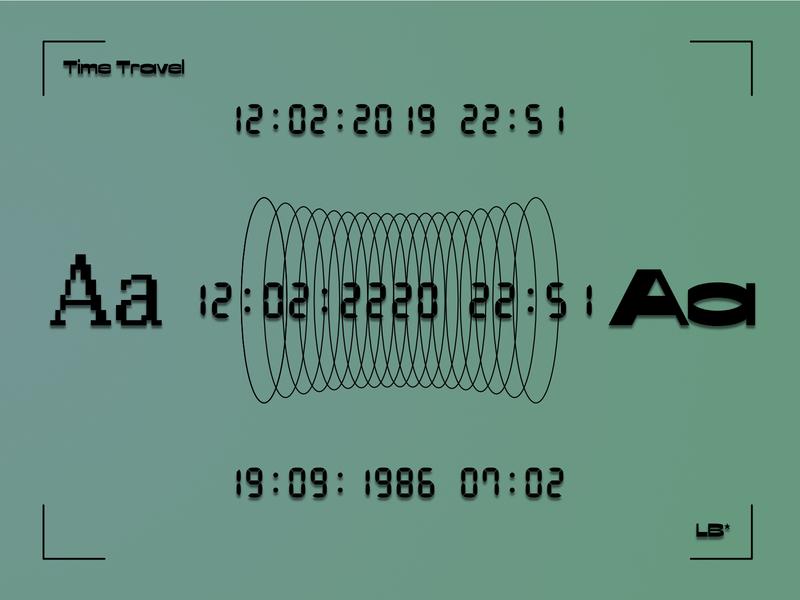 Time Travel databank retronaut timetravel digital illustration