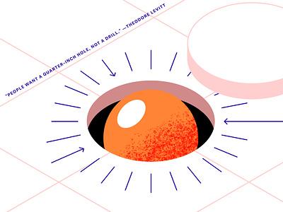 """""""Jobs To Be Done"""" blog Illustration detail eggyolk egg design grain grainy illustration"""