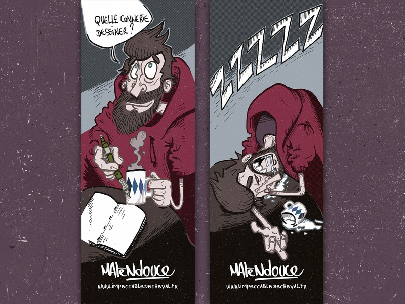 Marque page Matendouce bookmark bd comics illustration draw