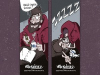 Marque page Matendouce bookmark bd comics illustration draw