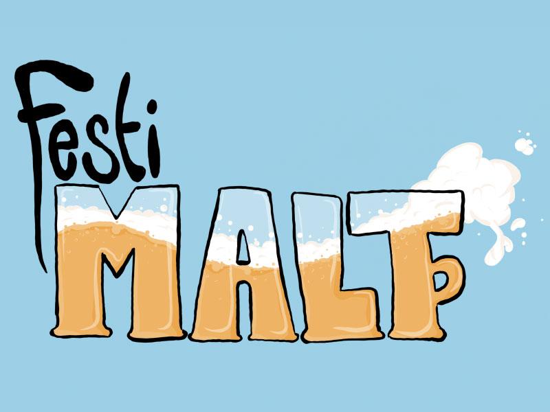 Festimalt logo logo draw beer
