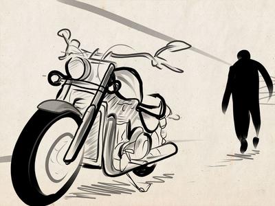 Bike illustration bike draw