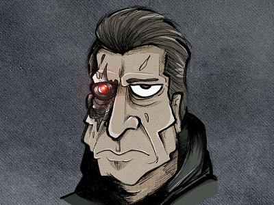Terminator illustration draw schwarzenegger terminator