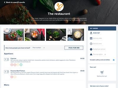 Ordering food online e-commerce restaurant food cart