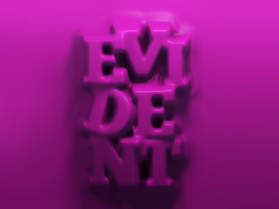 Evident type typography c4d design composition color cinema4d 3d