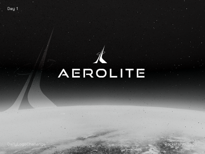 Rocketship Logo futuristic rocket space aerolite logo day1 dailylogochallenge rocketship logo