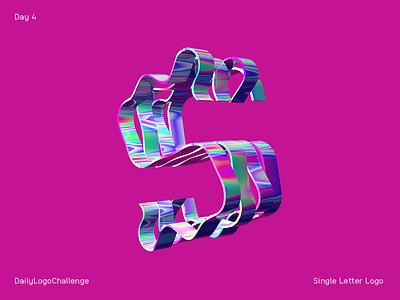 Single Letter Logo dailylogochallenge letters logo c4d dailylogochallenge type cinema4d 3d