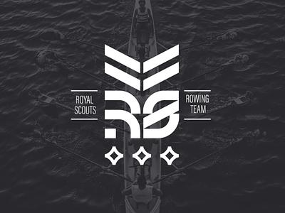 Royal Scout logo rowing royalscout branding sportlogo sport logo