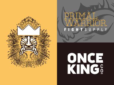 Once King Co. warrior king mandrill fight gear fight supply fight branding mma