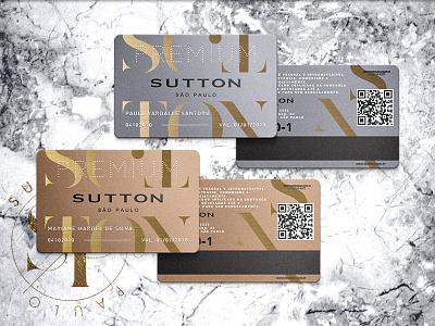 SUTTON. rose gold mockup gold foil chic premium membership card card