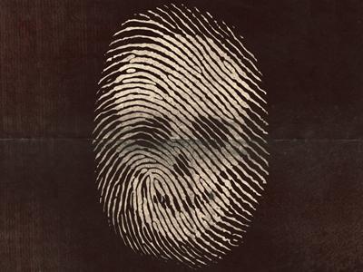 Death Fingerprint fingerprint illustration skull old vector silk screen