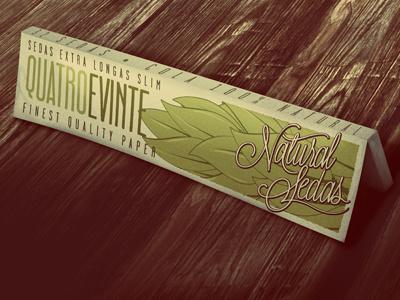 Natural Sedas Rolling Papers packaging branding rolling papers mockup weed pot
