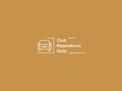 Club Réparateur Gold vector graphic brand identity logotype logo illustration design ui branding