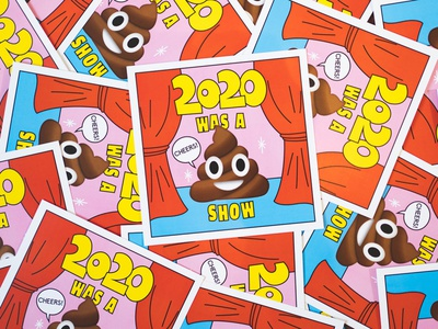 2020 was a shit show doodle postcard graphic design print design poster print fun illustration