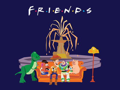 Friends character print fun illustrator vector illustration friends toystory