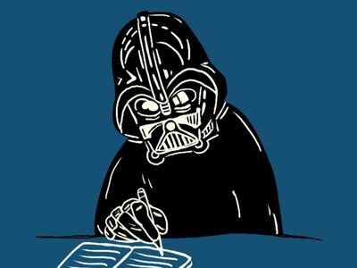 Darth Vader fun darthvader starwars illustration