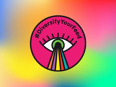 #DiversifyYourFeed colour key visual identity branding logo design logo