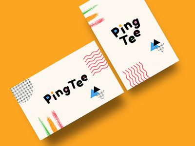 PingTee logo _ branding creative business card identity branding logo design logo