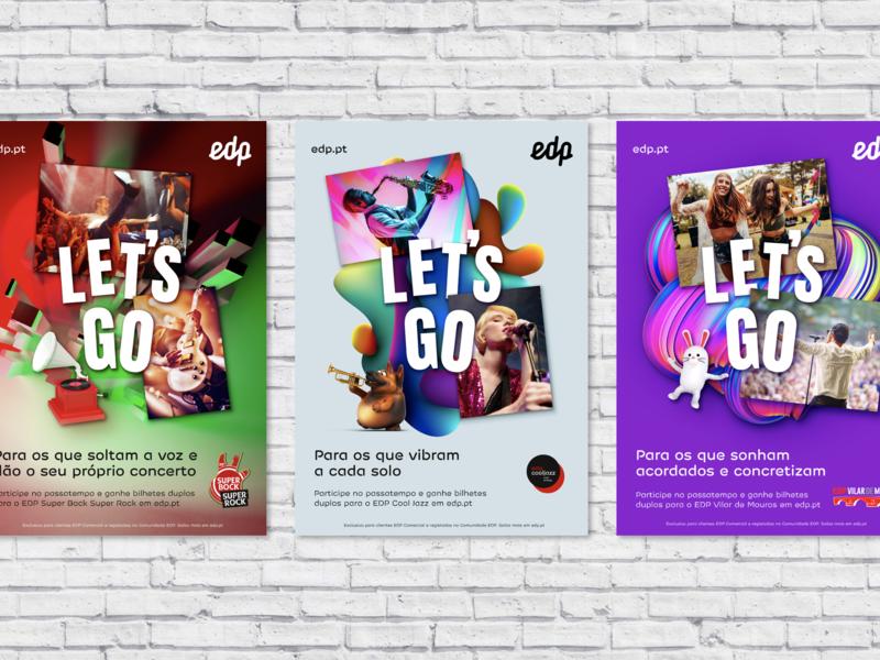 EDP brand campaign Let's Go advertising advertising design outdoor advert branding print graphic design poster print design design