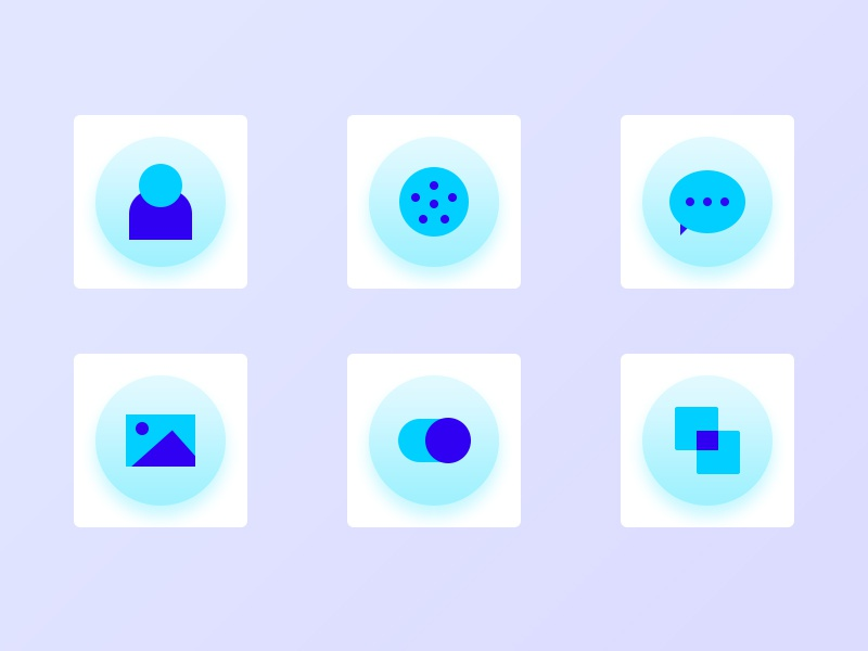 The function icon blue gradient switch album information phone contact geometry function icon