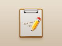 Folders and pencils