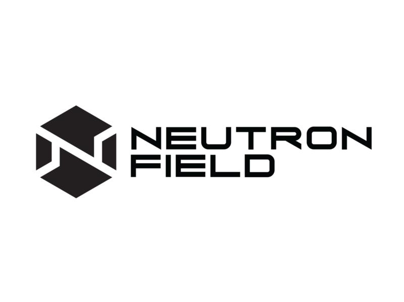 NeutronField Logo icon cyberpunk branding minimal typography vector logo