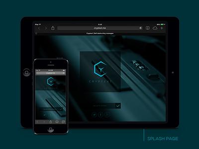 Cryptext.me | Splash Page encrypted messages text minimal subversive ios iphone ipad