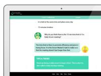 VivifyScrum EDU online scrum course, Interactive Content