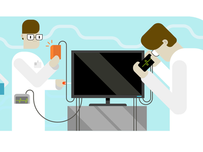 VivifyScrum EDU illustration monitor repairs funny simple cartoon illustration characters repairs monitor