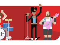 VivifyScrum EDU rock band illustration