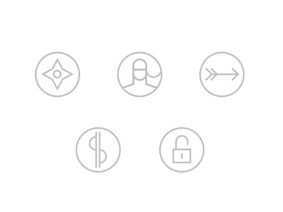 VivifyScrum EDU icon set sign dollar set custom icon linear arrow japan ninja