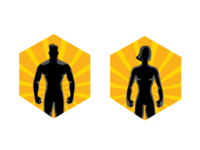 Badges for the fitness app