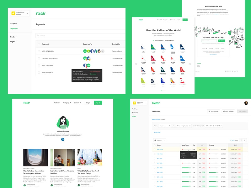 2018 author airline hub segments flights design website dashboard top4 product yieldr airlines