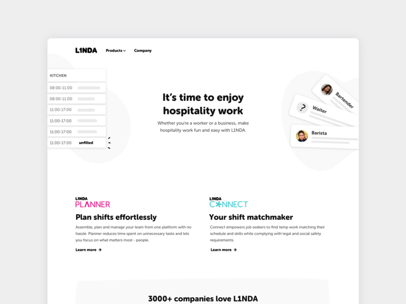 L1NDA.com ui ux hospitality rebranding website design website l1nda