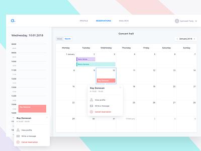 Event Calendar App admin app tooltip dashboard event datepicker 2018 app calendar