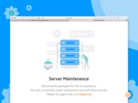 Server Maintenance Illustration