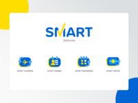 Icons set Smart Feature tiket.com