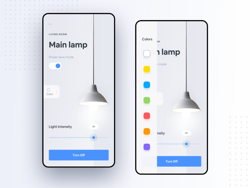 Smart Home Exploration #2 android lamp smart smarthome home mobile mobileapp design app design clean ui ios product design dribbble interface page illustration ios design dark app dark ui ui ux