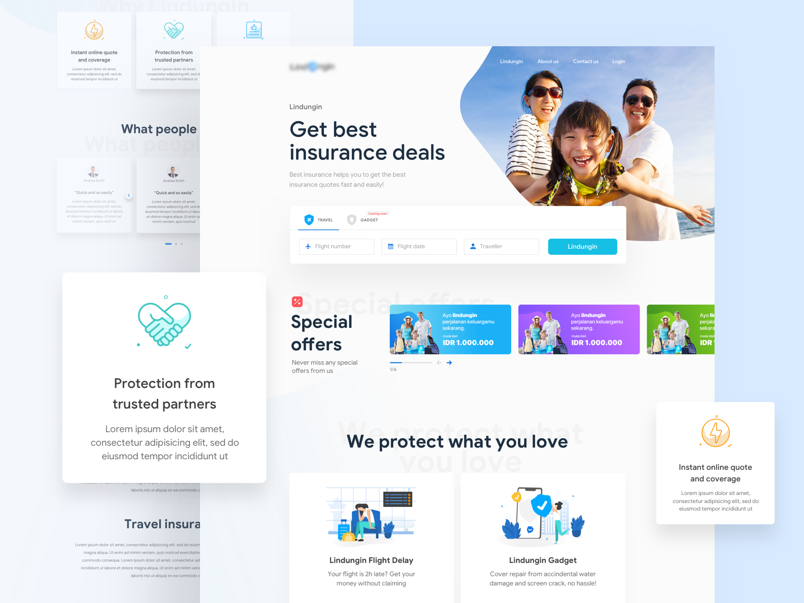 Insurance Landing Page by Samad Sam on Dribbble
