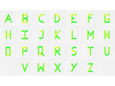 A-Z 3D Alphabets