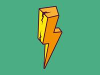 3D Lightning Bolt