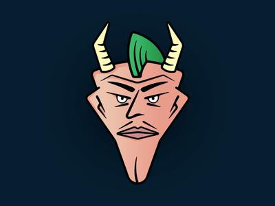 Horned Punk Face