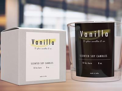 Vglow Candles design branding