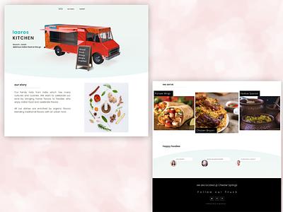 Food truck landing page adobe photoshop adobe dimension sketchapp