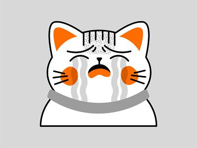 Crying Cat design vector illustration ai