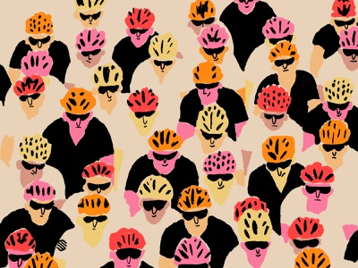 Cyclists cyclist cycling photoshop illustration
