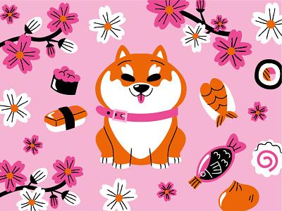 Shiba Inu ai vector illustration dog shiba inu