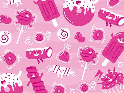 Candy Pattern pattern design vector ai illustration
