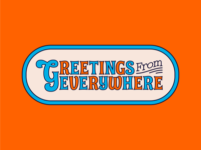 Greetings From Everywhere vector design illustration ai lettering art lettering